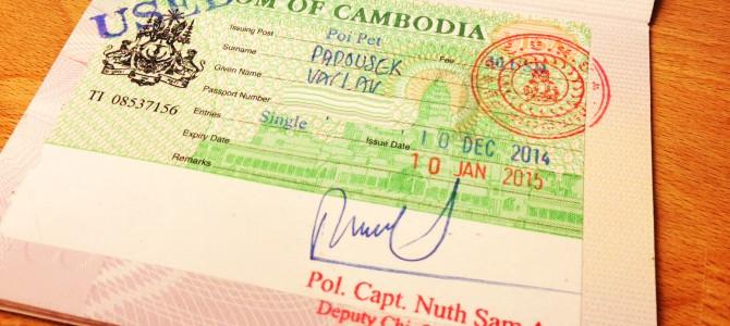 Víza do Kambodži – úplný průvodce
