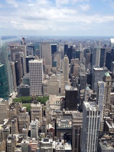 Výhled na na New York z Rockefellerova centra