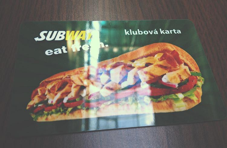 Věrnostní karta Subway