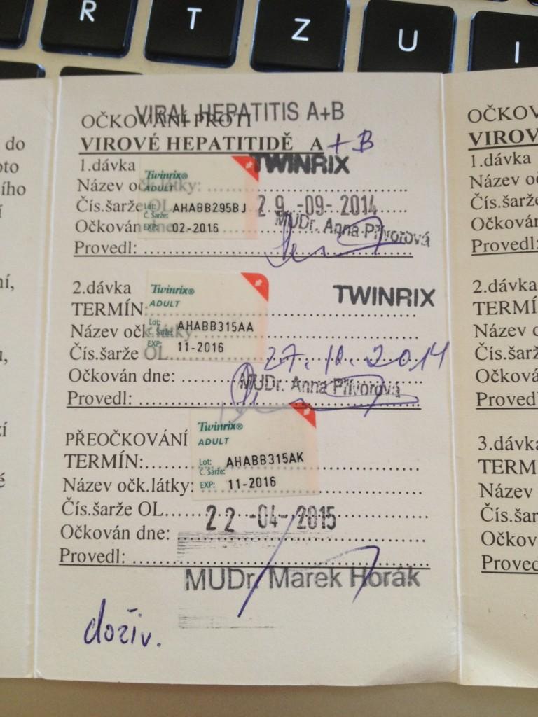 Můj očkovací průkaz