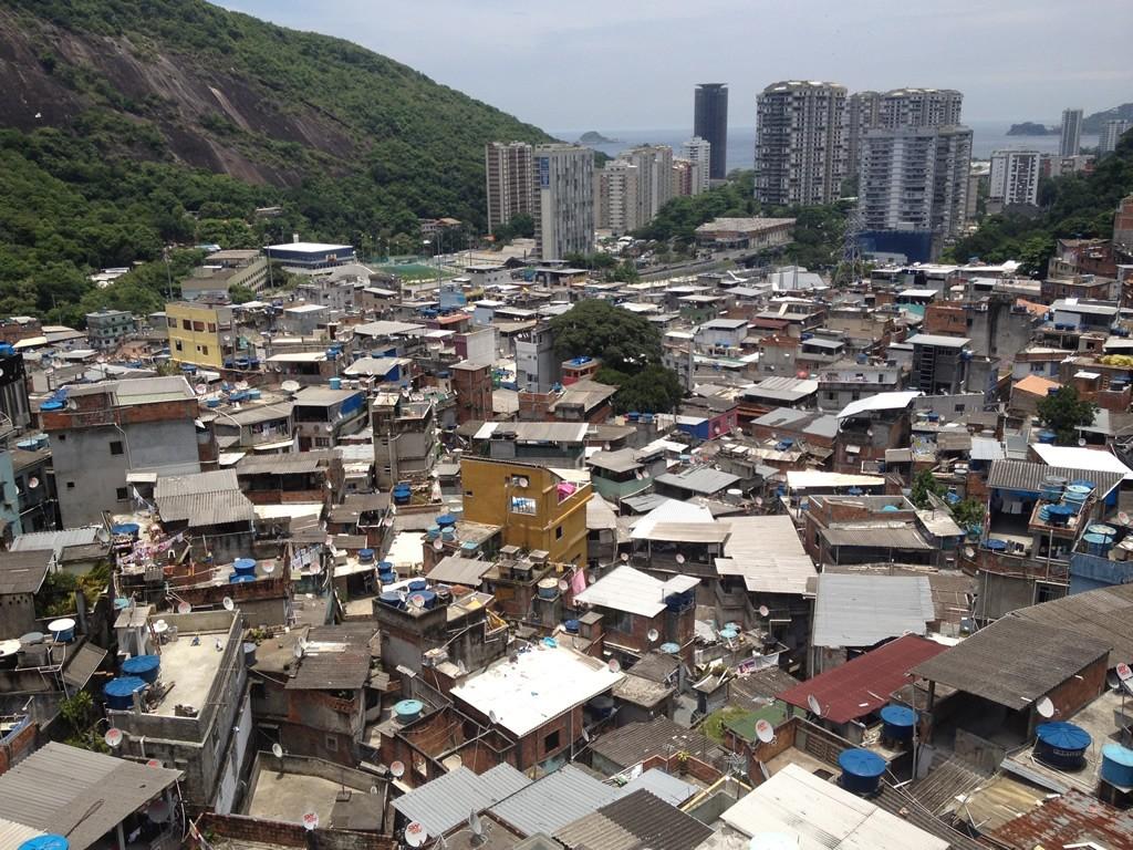Chidinská čtvrť Rocinha, Rio de Janeiro