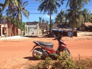Skútr na ostrově Phu Quoc