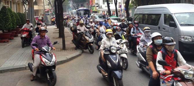 Ježdění na motorce ve Vietnamu