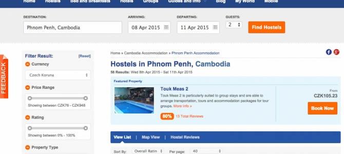 3 varianty jak se ubytovat v Kambodži