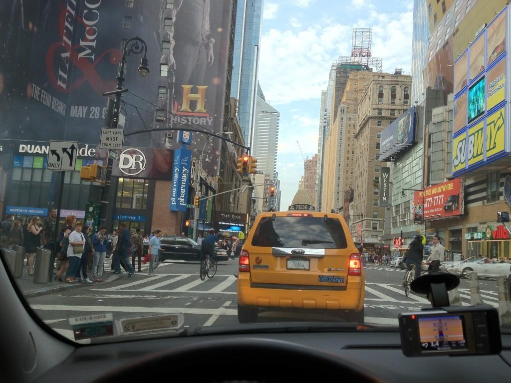 Ježdění po new yorku autem