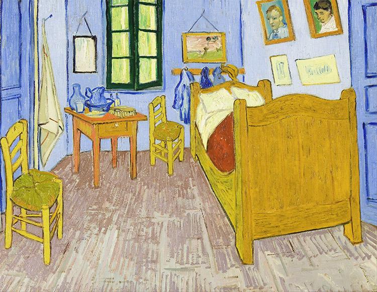 Pokoj Vincenta Van Gogha v hospicu v Saint-Rémy