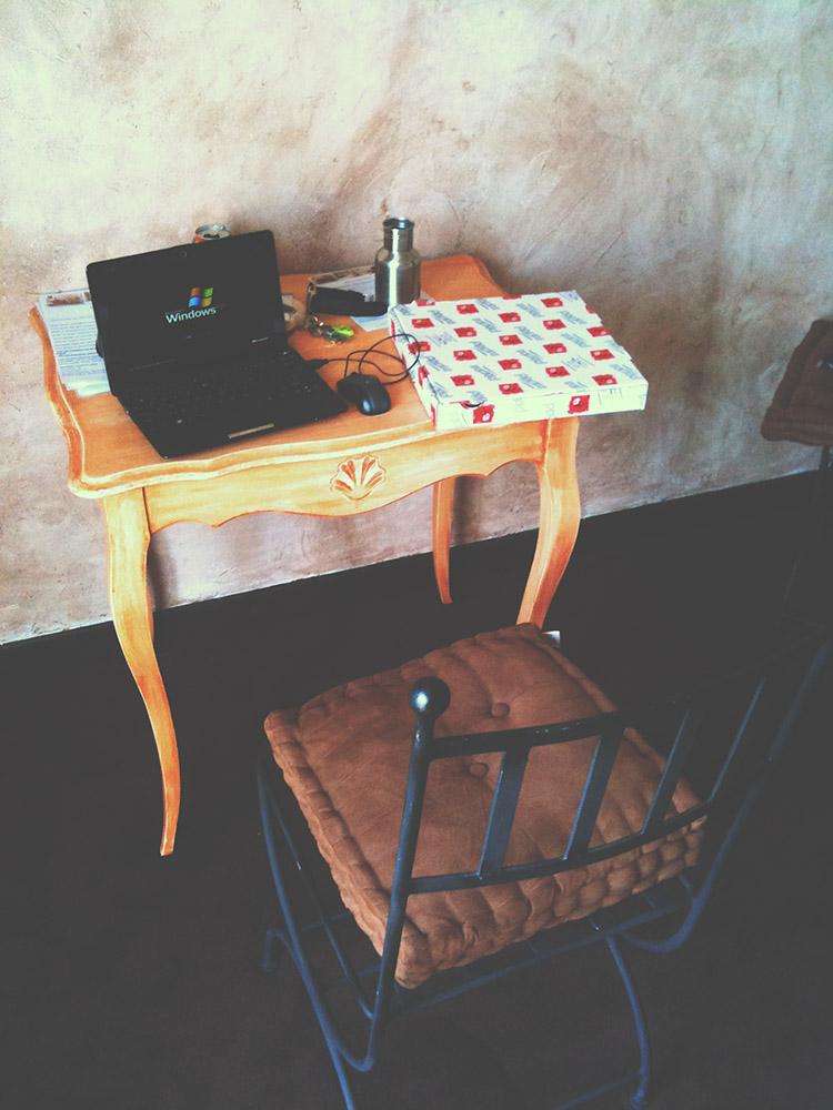 Moje pracovní stanice v Saint-Rémy-de-Provence