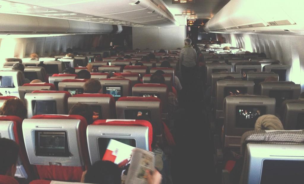 Uvnitř letadla