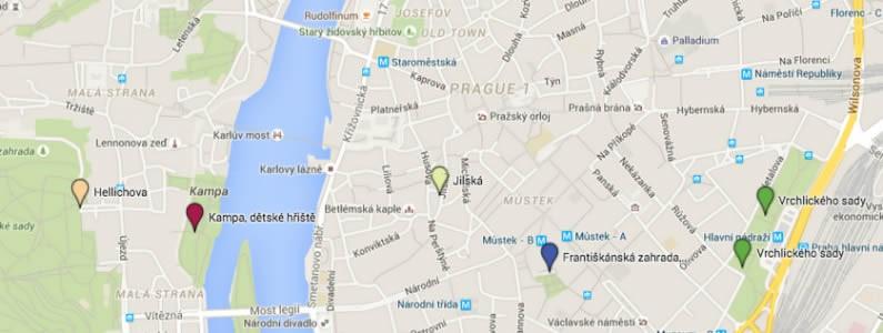 Fontány a pítka s pitnou vodou v Praze
