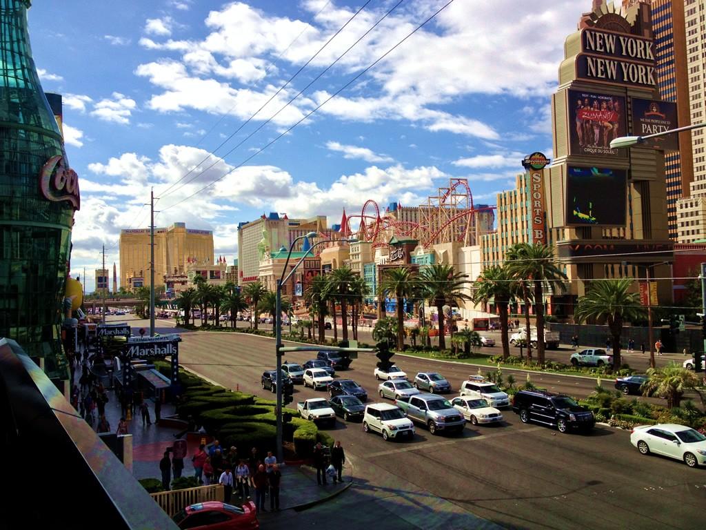 Ráno v Las Vegas na snídani v Rock Café